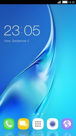 Download Free Android Theme Blue CLauncher - 4301