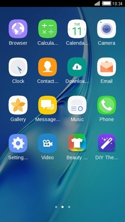 Blue CLauncher Android Theme Image 2