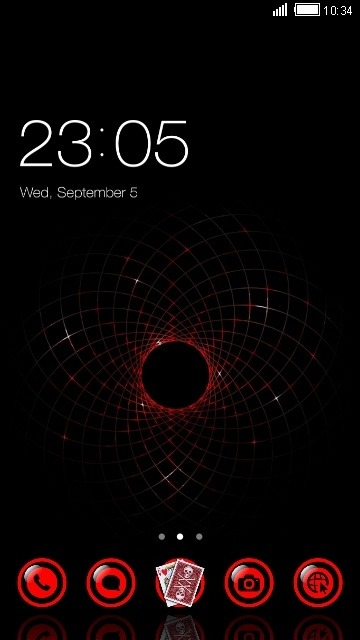 Black Hole CLauncher Android Theme Image 1