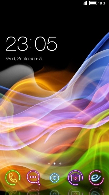 Neon Colors CLauncher Android Theme Image 1