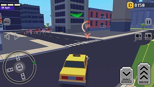 Crazy Car: Fast Driving In Town Android Game Image 2
