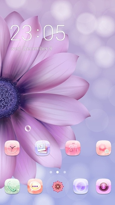 Purple Flower CLauncher Android Theme Image 1