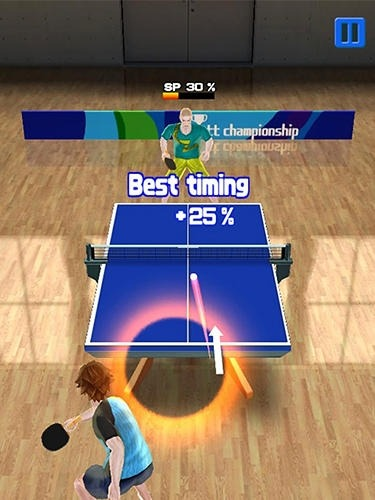 Super Rally Table Tennis Android Game Image 2