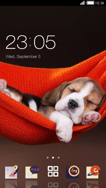 Cute Puppy CLauncher Android Theme Image 1