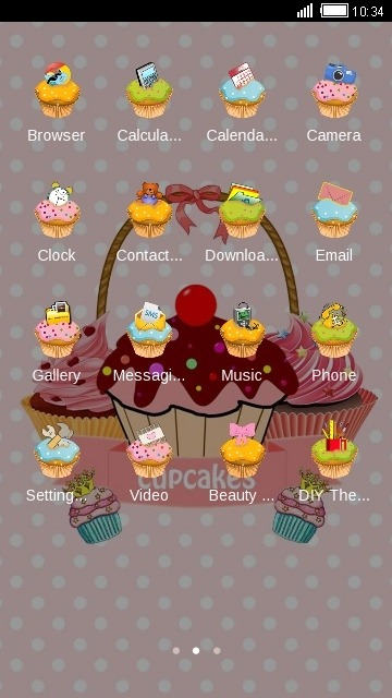 Cupcakes CLauncher Android Theme Image 2