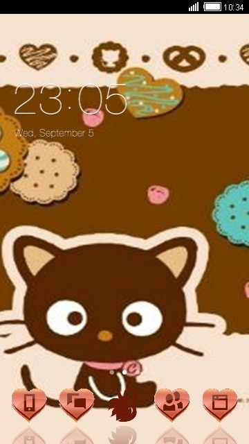 Cute Cat CLauncher Android Theme Image 1