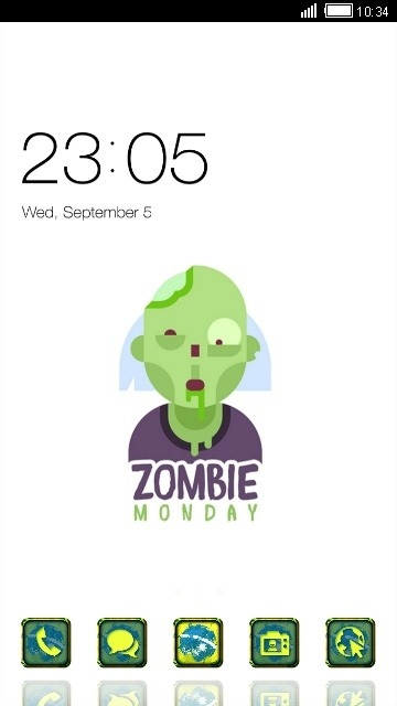 Zombie CLauncher Android Theme Image 1