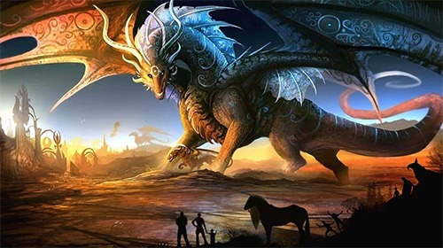 Fire Dragon Android Wallpaper Image 1
