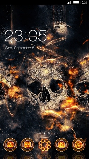 Fire Skull CLauncher Android Theme Image 1