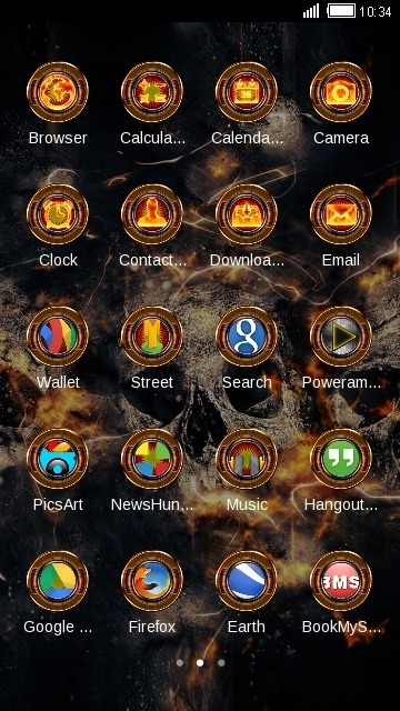 Fire Skull CLauncher Android Theme Image 2