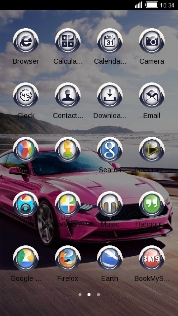 Pink Car CLauncher Android Theme Image 2