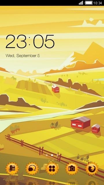Landscape CLauncher Android Theme Image 1