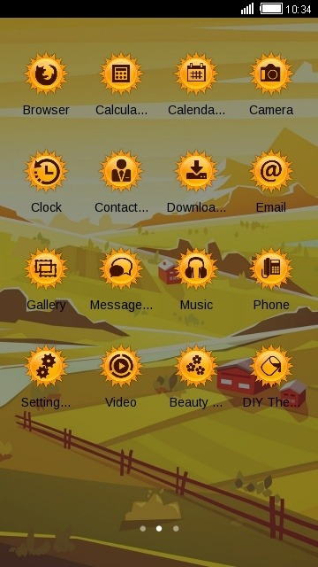 Landscape CLauncher Android Theme Image 2