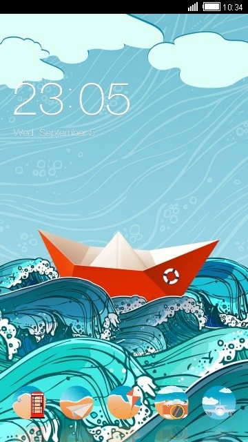 Paper Boat CLauncher Android Theme Image 1