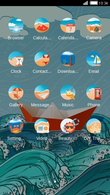 Paper Boat CLauncher Android Theme Image 2