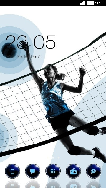 Sports Girl CLauncher Android Theme Image 1