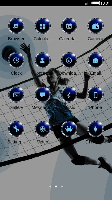 Sports Girl CLauncher Android Theme Image 2