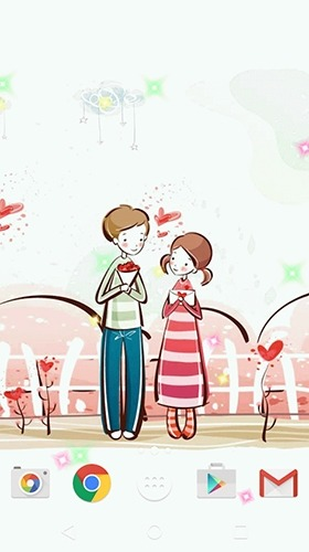 Cute Lovers Android Wallpaper Image 1