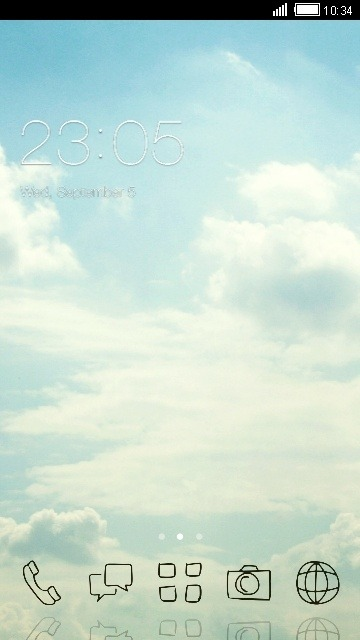 Sky CLauncher Android Theme Image 1