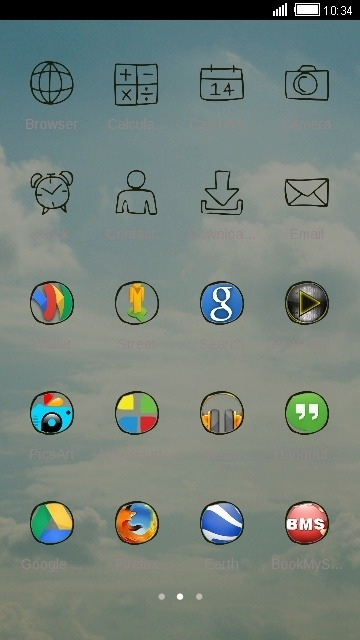 Sky CLauncher Android Theme Image 2