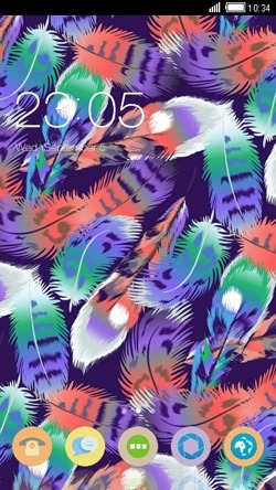Colorful Feathers CLauncher Android Theme Image 1