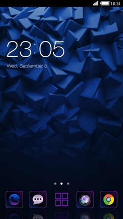 Dark Blue CLauncher Android Theme Image 1