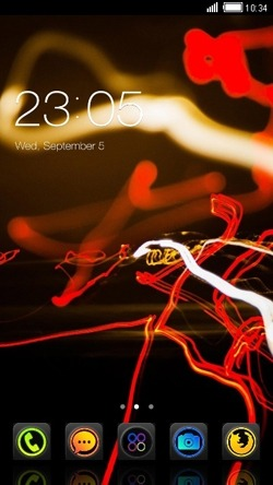 Red CLauncher Android Theme Image 1