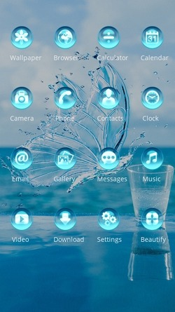Water Butterfly CLauncher Android Theme Image 2