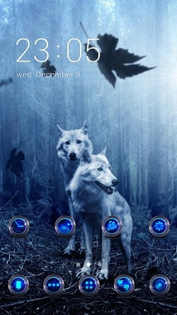 Wolves CLauncher Android Theme Image 1