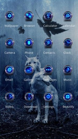 Wolves CLauncher Android Theme Image 2