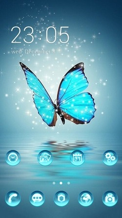 Crystal Butterfly CLauncher Android Theme Image 1