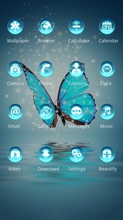 Crystal Butterfly CLauncher Android Theme Image 2