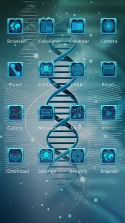 DNA CLauncher Android Theme Image 2