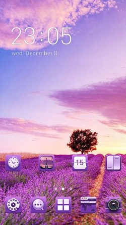 Purple Nature CLauncher Android Theme Image 1