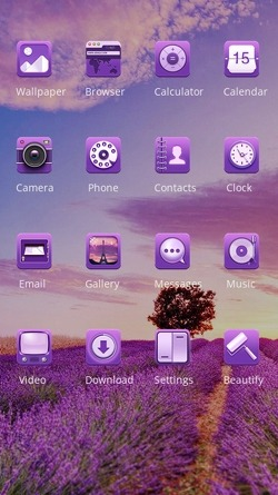 Purple Nature CLauncher Android Theme Image 2