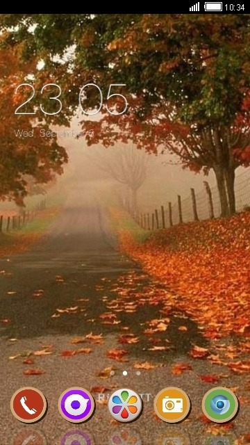 Autumn CLauncher Android Theme Image 1