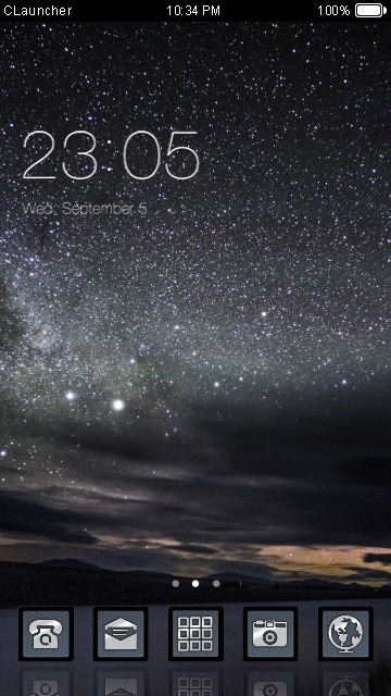 Night Sky CLauncher Android Theme Image 1
