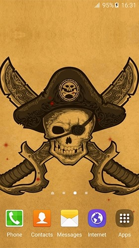 Pirate Flag Android Wallpaper Image 2