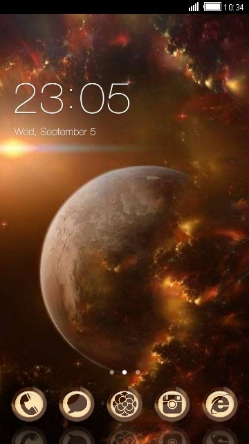 Planet CLauncher Android Theme Image 1
