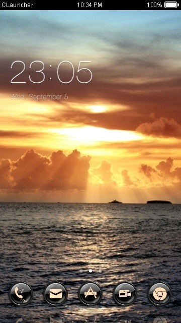 Sunlight CLauncher Android Theme Image 1