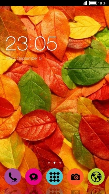 Autumn Leaves CLauncher Android Theme Image 1