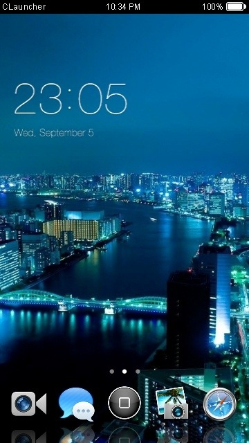 Beautiful City CLauncher Android Theme Image 1