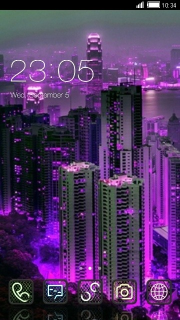 Neon City CLauncher Android Theme Image 1