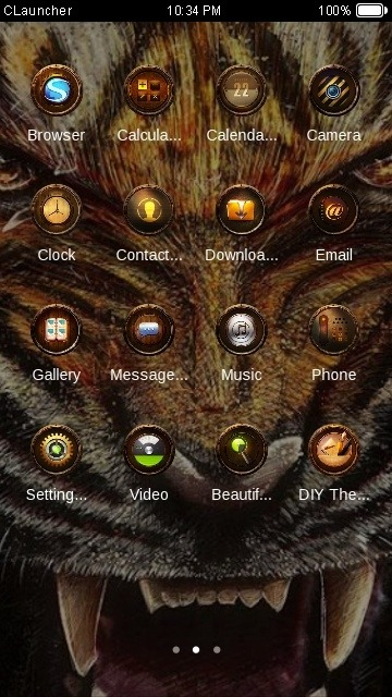 Angry Tiger CLauncher Android Theme Image 2
