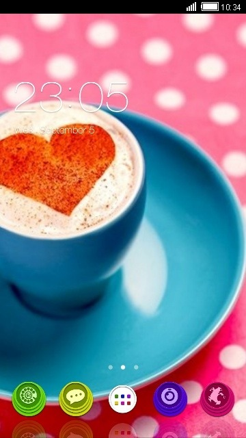 Coffee Heart CLauncher Android Theme Image 1