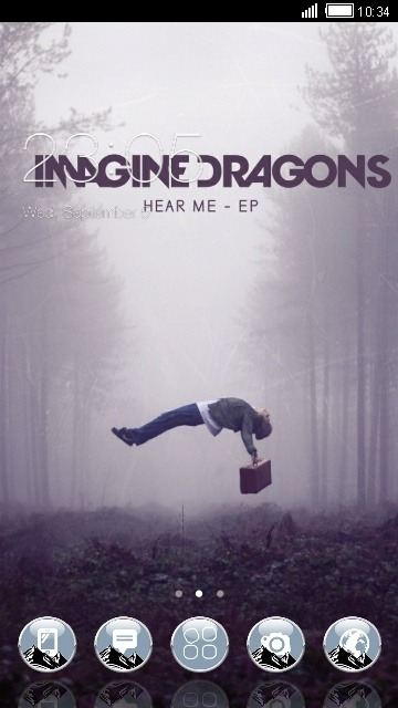 Imagine Dragons CLauncher Android Theme Image 1