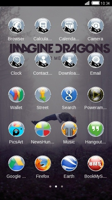 Imagine Dragons CLauncher Android Theme Image 2