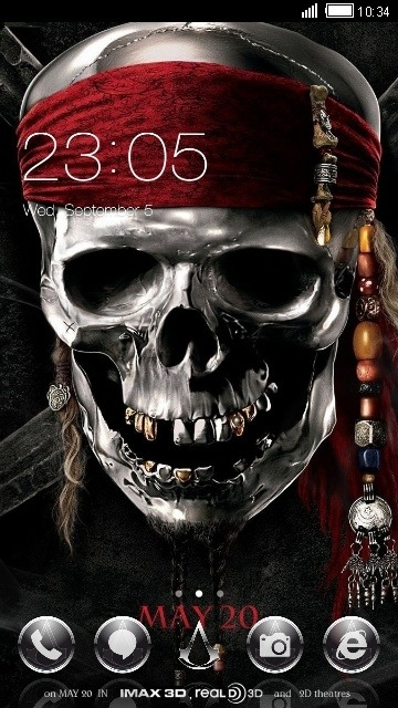 Skull CLauncher Android Theme Image 1