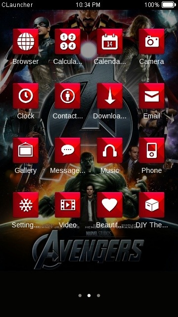 Avengers CLauncher Android Theme Image 2