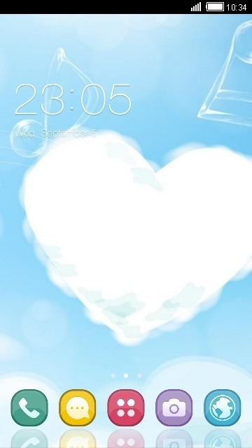 Cloud Heart CLauncher Android Theme Image 1